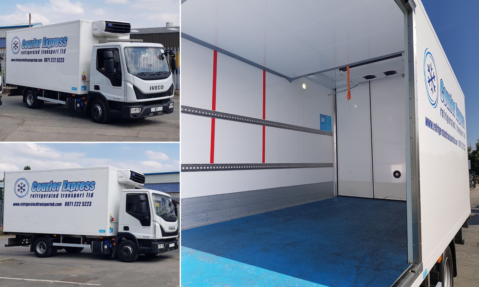 New refrigerated transport truck